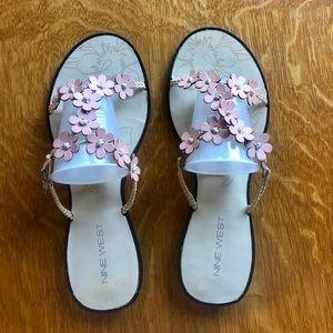 Nine West - Flowery Flat Sandals